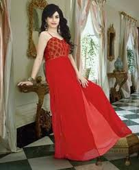 buy sightly red readymade gown with hand work kar6001 b at