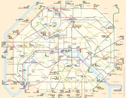Plano Map Paris City Buses Buses And Noctiliens Night Buses In Paris