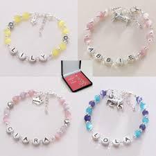 beaded bracelet name images Girl 39 s christmas name bracelet pewter letters jewels 4 girls jpg