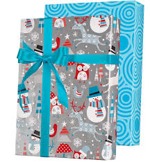 reversible christmas wrapping paper snowplay reversible gift wrap innisbrook wrapping paper