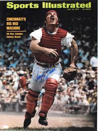 Johnny Bench Wife Lot Detail Johnny Bench 1947 16x20 Photo Signed From Steiner