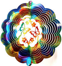 butterfly wind spinner multicolor printed lifetime warranty