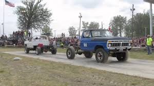Old Ford Truck Accessories - old chevy vs old ford tug o war at wapak tug fest youtube