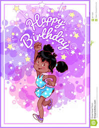 greeting birthday card with a happy african american stock