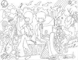 trippy coloring pages printable rog n syd u0027s acid trip by