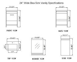 kitchen cabinet bathroom vanity dimensions home design on intended