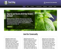 food blog wordpress theme premium web template for food bloggers