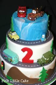 my pink little cake cars theme birthday cake