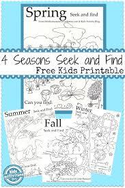 4 seasons seek and finds free printable free printable free
