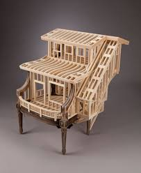 small wooden sculptures small house frames out of wood by ted lott designer daily