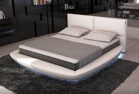 lia modern bed with led lights contemporary bedroom