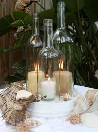wine bottle wedding centerpieces white wedding wine bottle candle centerpiece by bomolutra