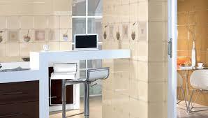 carrelage moderne cuisine decoration carrelage moderne mural beige crème imprimé vaisselle