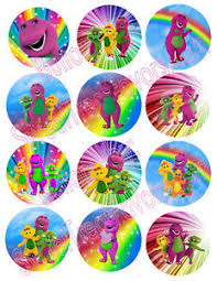 BARNEY BABY BOP Party Supplies 12 PINS Buttons FAVORS Treats