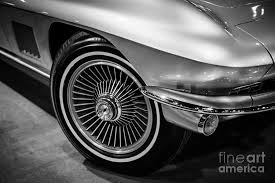 corvette c2 1960 s chevrolet corvette c2 in black and white photograph by paul