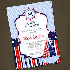 Make Invitation Card Nautical Theme Baby Shower Invitations Kawaiitheo Com