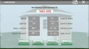 garage measurements udesignit 3d garage shed android apps on google play