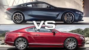 2018 bmw 8 series vs 2016 bentley continental gt luxury sedans