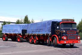 old volvo trucks leyland octopus and trailer owned by knowles transport of