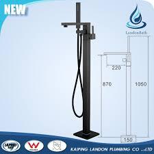 Floor Mounted Faucet Ce Upc Watermark Electroplated Matte Black Freestanding Bathtub
