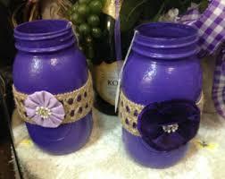 purple glass vase etsy