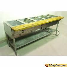Used Stainless Steel Tables by Used Stainless Steel Serving Line Steam Table W 5 Wells