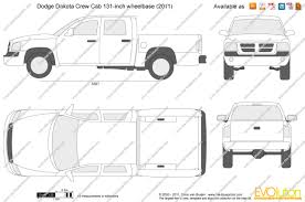the blueprints com vector drawing dodge dakota crew cab 131