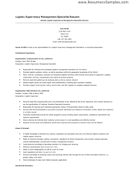 Procurement Resume Samples by Click Here To Download This Transportation Logistics Specialist