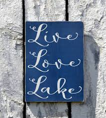 lake house decor live love lake sign custom wood lakeside plaque