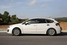 2016 subaru impreza hatchback silver spyshots subaru impreza engine testing mule autoevolution
