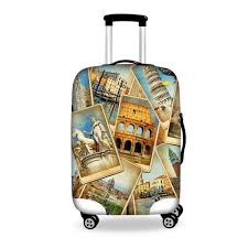 travel suitcase images Vintage luggage protective dust cover to 18 28 inch carry on case jpg