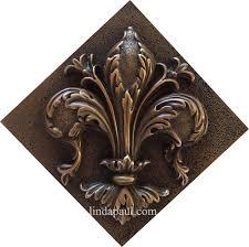 fleur de lis diagonal tile bronzr fleur de lis diagonal tile