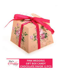 wedding gift malaysia buy pink wedding gift box malaysia candy chocolate favor she s