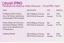 discount professional makeup makeup artist discount dinair airbrush makeup