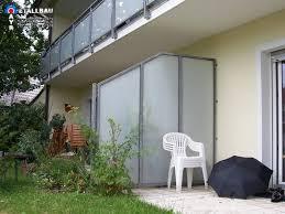 balkon trennwand balkon fenster