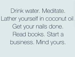 Coconut Oil Meme - dopl3r com memes drink water meditate lather yourself in
