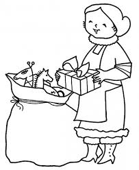 santa claus bags christmas gifts coloring pages holiday