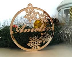 name ornament etsy