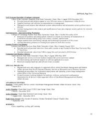 Sample Student Affairs Resume by Sample Resume Cover Letter Free Download