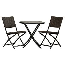 Black And White Patio Furniture Outdoor Bistro Set