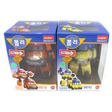 amazon robocar poli mark bucky transformer robot car toy