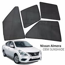 nissan almera 2012 custom fit oem sunshades sun shades for nissan almera 4pcs