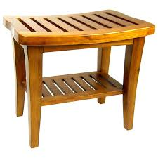 Teak Bath Bench Teak Spa Bench Shower Wood Bath Stool Seat Shelf Chair Bathroom