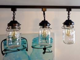 Mason Jar Lights A Mason Jar Track Light Of 3 Vintage Quarts The Lamp Goods