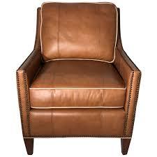 upholstered club chair viyet designer furniture seating vintage leather upholstered