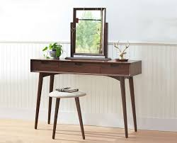 Vanity With Stool Juneau Vanity Table Dressers Scandinavian Designs