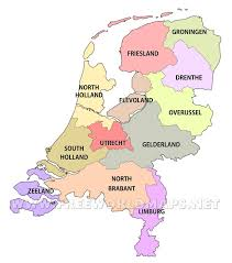 Map Of Netherlands The Netherlands Political Map