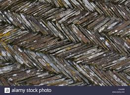 section of retaining garden wall cornwall stock photo royalty