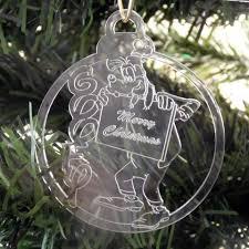 Large Acrylic Christmas Decorations by 6 Pk Of Handmade Disney Themed Clear Acrylic Christmas Tree