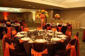 Halloween Wedding Table Decorations Burnt Orange Wedding Decorations Burnt Orange Sash And Gold